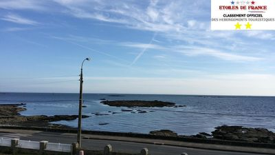 Photo for Studio classified 2 stars, sea view, waterfront, 35m2, private parking, Wifi