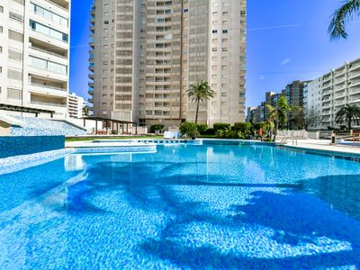 Photo for Holiday rental apartment in Calpe (Costa Blanca) for maximum of 4 people. Nice apartment with fantastic views to the sea, placed in the second line of the beach.