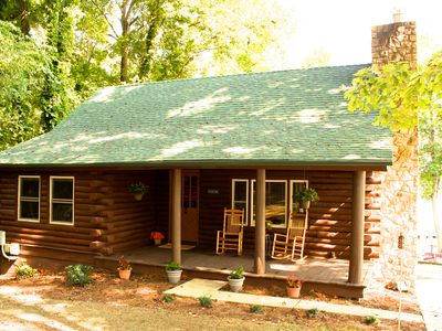 Photo for The authentic charm of a peaceful log cabin on beautiful Lake Norman
