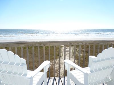 Photo for Beachfront Gem on the Sand!  Large deck, 3 bdrm-2 bath, Hot Tub, WiFi & Cable!