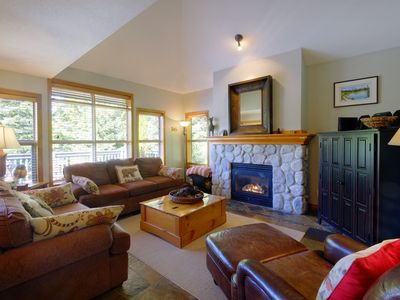 Photo for Ski in/Out - Private Hot Tub - 3 BR- Great deck w/BBQ, Free Wifi & Free Parking