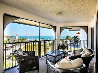 Photo for Gulf Front 3 bedroom 2.5 bath condo w/fantastic Open Water views and Sunsets