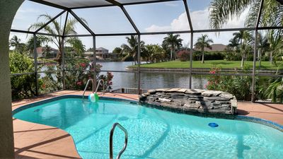 Photo for Beautiful Gulf Access, Waterfront, Pool with Waterfall