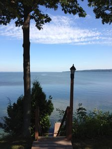 "Photo for ""Longview"": Finger Lakes Lakefront Cottage on Cayuga Lake w/Beachfront and Dock!"