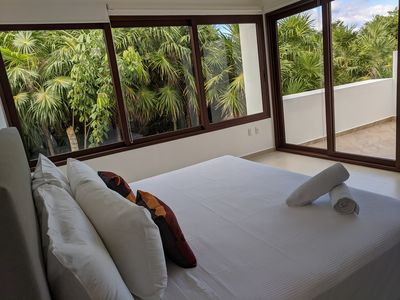 Photo for Luxe new ocean jungle house on Akumal beach. 30 min Tulum and Playa del Carmen