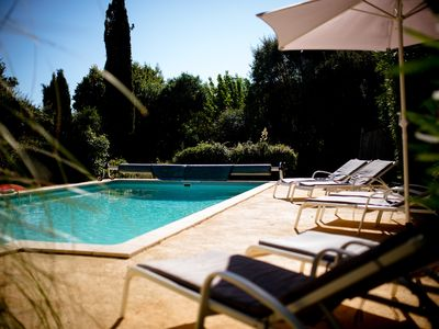 Photo for Villa 8 people with heated pool 500 m from the sea holy maxim / grimaud