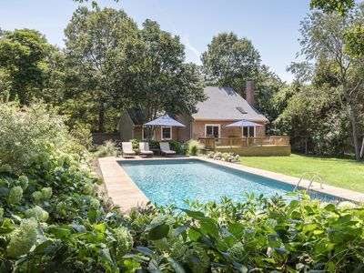 Photo for Hidden Gem: Sunny, secluded home, walk to East Hampton town and train station