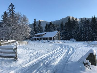 Photo for Stunning 80 acre Mountain Retreat , 15 minutes from Sun Peaks Ski Resort