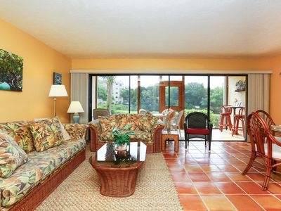 Photo for Lush, Peaceful 1st. Flr, 2Br.Waterfront, Pool, Private Beach, Boat Docks, Wi-Fi