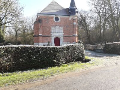 Photo for In In a charming little village in front of a XVth century chapel and a castle
