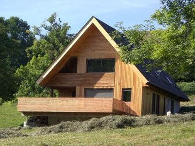 Photo for Contemporary chalet in the mountains, on a farm bio