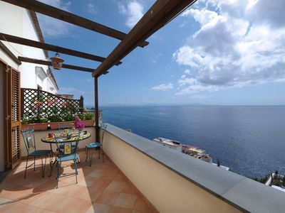 Photo for AMAZING VILLA FREE PARKING & 1 MEAL @ LaTagliata our restaurant in Positano