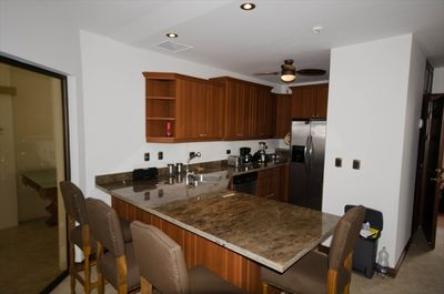 Large Furnished Kitchen with Stainless Steel Appliances