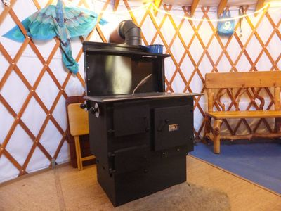 The wood cook stove