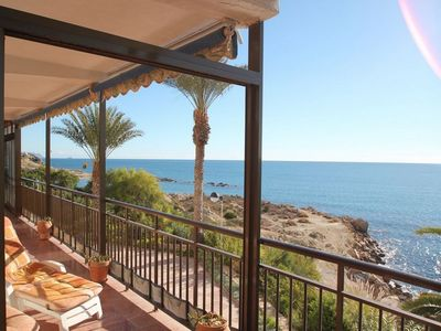 Photo for SPACIOUS FRONT-LINE BEACH APARTEMENT, SOUTH FACING, AIRCO, AMAZING VIEWS, WIFI