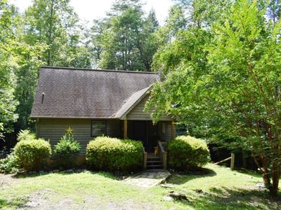 Photo for 2BR/2BA, Sleeps 5, Hot Tub, Dog Friendly, Fire-Pit, On the Creek, Wood Burning Fireplace, Foosball,