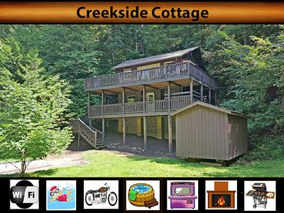 Photo for Creekside Cottage - Creek View / Pool Access / WiFi / Fire-pit / Hot Tub