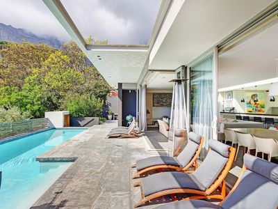 Photo for Spacious, luxurious and modern upmarket villa in Camps Bay with Private Pool