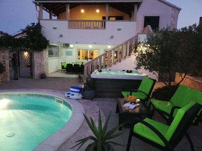 Photo for Luxury house with pool,jacuzzi, barbecue,tranpoline,free parking...
