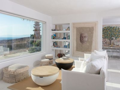 Photo for Villa Aristotle: sunset & Aegean sea Views:  minimal design 4 bedrooms 4 bathroo