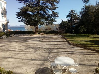 Photo for Superb duplex T3, in a former Palace on the edge of water, Tamaris-sur-Mer
