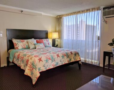 Photo for Cute partial ocean view Studio in Central Waikiki at Bamboo Hotel