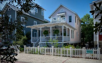 Photo for Magazine perfect 3BR, 2BA Victorian cottage just steps from East Beach,