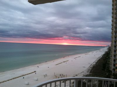 Beach / sunset view from balcony