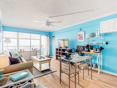 Photo for Newly renovated oceanfront condo w/ balcony, great views & beach access!
