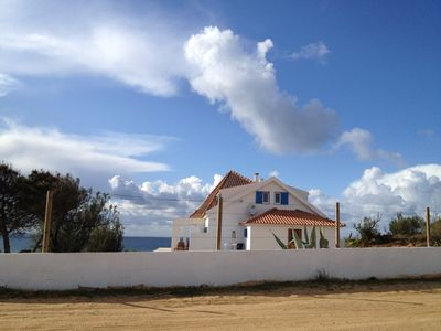 Photo for Beach side villa! Independent beach house with panoramic view!