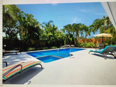 Photo for House with Pool 3+Den - Walk to Vanderbilt Beach