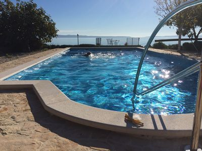 Photo for Seafront house with pool  in Split,100m to  the beach