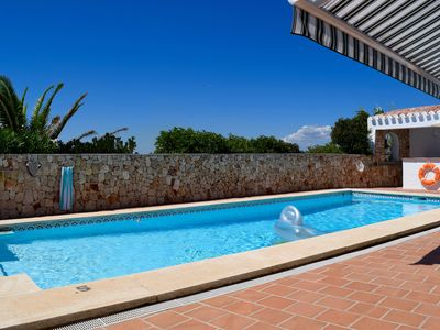 Photo for Luxury Villa-Heated private salt pool, fantastic view, quiet location near Mahon