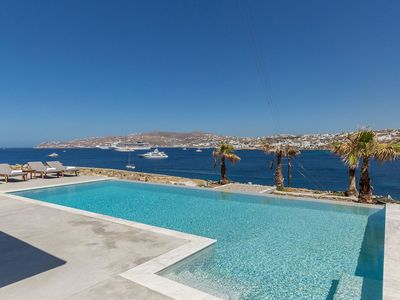 Photo for Carmen 1 in Mykonos, with panoramic views, private pool, 4 bedrooms,  8 sleeps