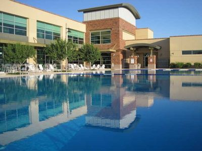 45,000 sq/ft Facility, Olympic pool, water polo, waterslide (heat March-Nov)