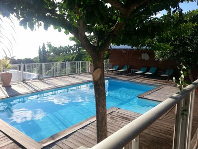 Photo for cottage Hibiscus of 110 m in front of the sea swimming pool clim comfort ***