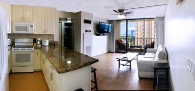Photo for Stunning Ocean and Sunset Views from this 2 Bedroom Condo at Chateau Waikiki