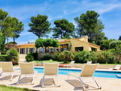 Photo for 300m2 Villa,Heated Pool, 7000m2 Garden, 9 People - Aix En Provence Center at 4km