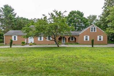 The house has 3200 SF. Plus1800 SF Patio. Property 1.5 acres land plus the pond