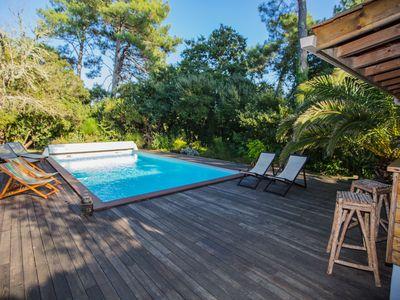 Photo for Quiet villa in CAPBRETON, private heated pool, 3 minutes from the beach