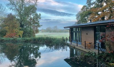 Photo for Secluded, New Forest Riverside Lodge