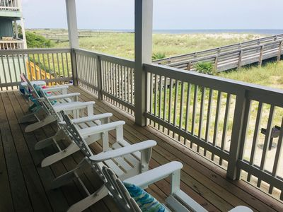 Beach view from the large patio and walkway to the beach.
