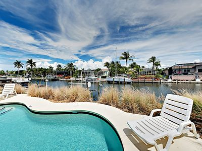 Photo for New Listing! Canalfront Home w/ Pool, Dock & Screened Porch, 3 Miles to Beach