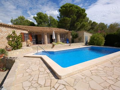 Photo for Saonas villas: Beautiful stone villa with private pool 3.5 km from the beach