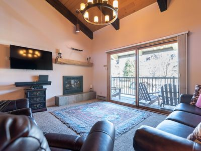 Photo for Updated Sleeps 9 with Pool, Hot Tubs, Walk to Base, Fireplace