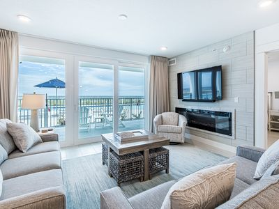 Photo for Beautiful Gulf Front Condo Sleeping 12! Pools Onsite, Gated Community, Free Beach Equipment Rentals!