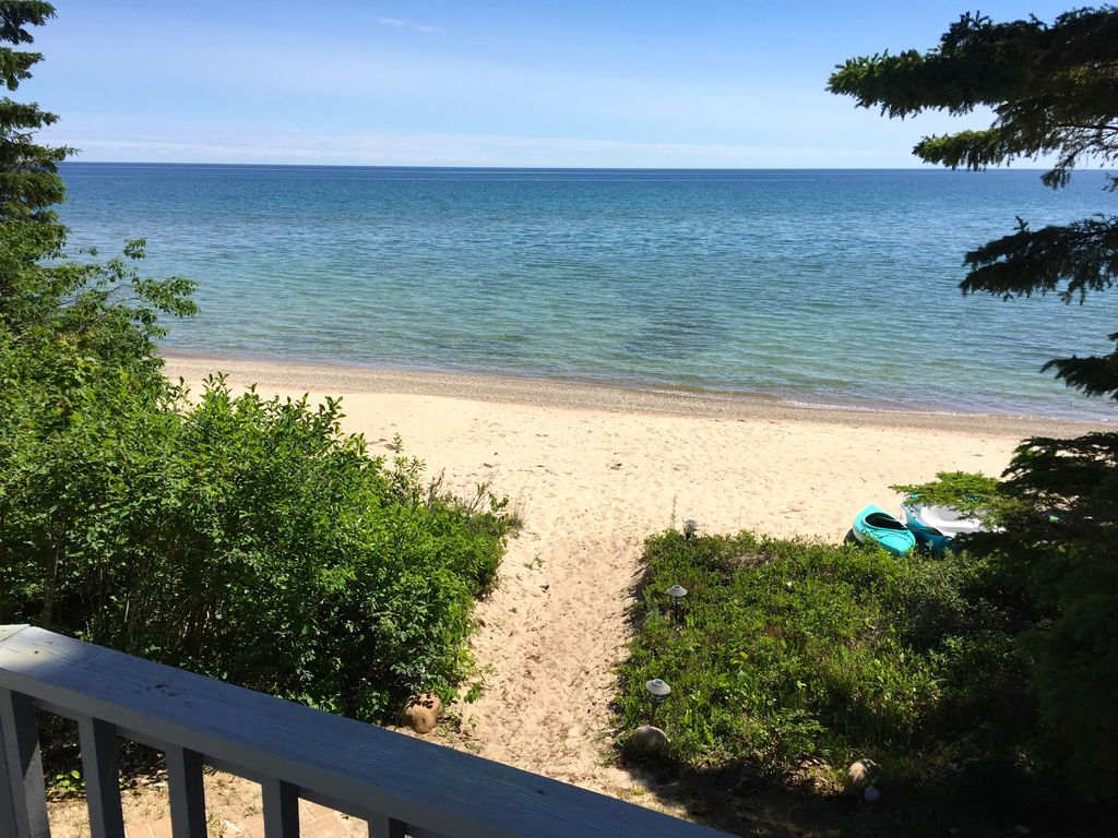 Private beach front home on lake huron bet vrbo private beach front home on lake huron between cheboygan rogers city sciox Gallery