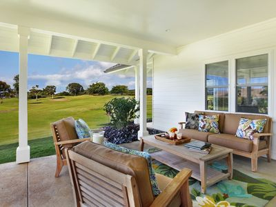 Photo for Golf course view, Private home, Outdoor shower, Luxurious, Kiahuna Lani at Poipu