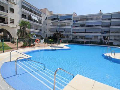 Photo for El Rincon - First Line Beach 2BR Modern Apartment in Rincón de la Victoria, Pool, Wifi