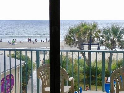Photo for 2nd Floor, Queen Beds, DIRECT OCEANFRONT VIEW, Pools, Hot Tubs, Lazy River +